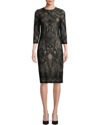 JS Collections - Patterned Stripe Knee-length Dress - Lyst