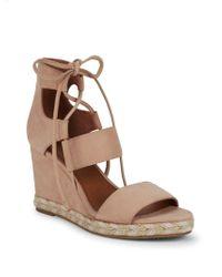 584e8cd51f889 Frye - Roberta Ghillie Nubuck Espadrille Wedge Sandals - Lyst