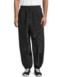 Yohji Yamamoto Men's Drawstring Cargo Trousers - Black - Size Xs