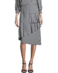 Tibi - Gingham Ruffled Skirt - Lyst