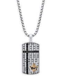 Effy Classic Sterling Silver Pendant Necklace - Metallic