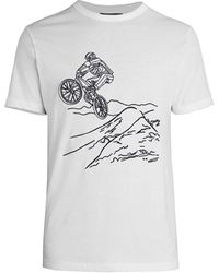 French Connection Usa Biker Graphic T-shirt - White