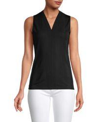 BOSS by Hugo Boss Women's Emilee2 Ribbed Top - Black - Size Xl