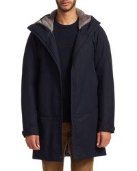 Saks Fifth Avenue Collection By Esemplare Faux Fur-lined Parka - Blue