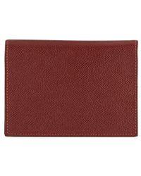 Hermès Burgundy Epsom Agenda Gm - Red