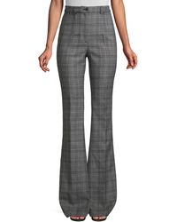 Michael Kors High-waist Virgin Wool Flare Trousers - Grey