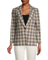 Bailey 44 Women's Emerson Plaid Jacket - Beige Multi - Size 0 - Multicolour