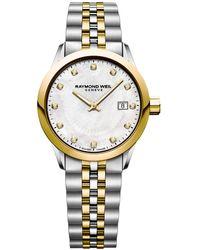Raymond Weil Freelancer Ladies Two-tone Stainless Steel Bracelet Watch - Multicolor