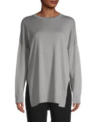 Eileen Fisher Organic Cotton Jumper - Grey