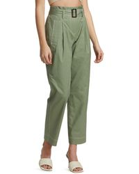 Jonathan Simkhai Belted Utility Trench Trousers - Green