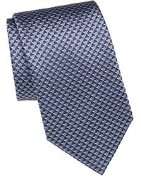 Brioni Mountain Embroidered Silk Tie
