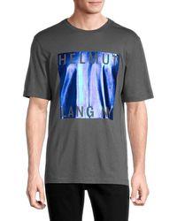 Helmut Lang Men's Logo Cotton-blend Tee - Gunmetal - Size Xs - Grey