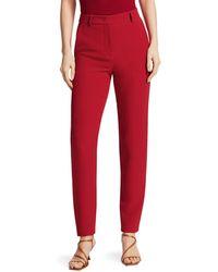 Giorgio Armani Silk Cady Slim Pants - Red
