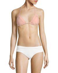 Pilyq - Mesh-trimmed Bikini Top - Lyst