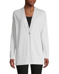 Lafayette 148 New York V-neck Cotton & Cashmere-blend Cardigan - Multicolour