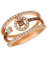 Le Vian 14k Strawberry Gold®, Chocolate & Nude Diamonds® Cocktail Ring - Brown