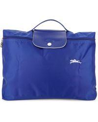 Longchamp Le Pliage Document Holder - Blue
