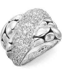 John Hardy | Kali White Sapphire & Sterling Silver Twist Ring | Lyst