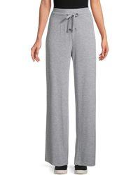 Calvin Klein Women's Wide-leg Lounge Trousers - Heather Granite - Size Xl - Grey