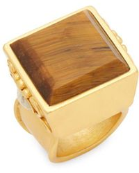 Stephanie Kantis - Mesa Tigers Eye And Beige Chalcedony Ring - Lyst