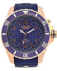 Kyboe - Rose Goldtone Stainless Steel Silicone Strap Watch - Lyst