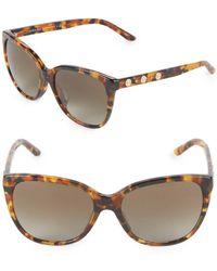 2c846fdae9c9f Lyst - Versace Cat-eye Plastic Sunglasses in Brown