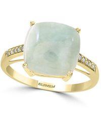 Effy - May Jade & Diamond 14k Yellow Gold Ring - Lyst