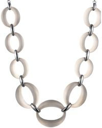 Alexis Bittar Ruthernium-plated & Lucite Link Statement Necklace - Metallic