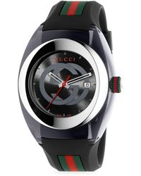 Gucci Sync Stainless Steel Rubber-strap Watch - Multicolour