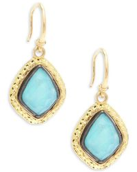 Armenta - Old World Rainbow Moonstone & 18k Goldplated Sterling Silver Drop Earrings - Lyst