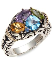 Effy Women's 18k Yellow Gold, Sterling Silver & Multi-stone Ring/size 7 - Size 7 - Metallic