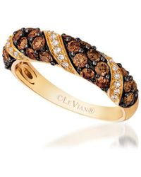 Le Vian - Chocolatier Pavé Honey Gold Band - Lyst