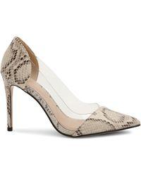 BCBGeneration Lania Snakeskin-embossed & Vinyl Court Shoes - White