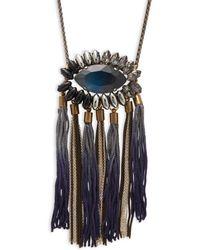 Tataborello - Beaded Tasseled Necklace - Lyst