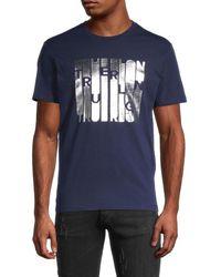 True Religion Men's Column Graphic T-shirt - Ace Blue - Size S