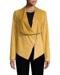 Vigoss Faux Suede Jacket - Yellow