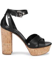 Casadei Leather Ankle-strap Sandals - Black