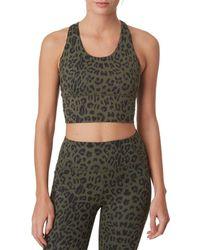 X By Gottex Women's Compress Sports Bra - Paint - Size Xs - Green