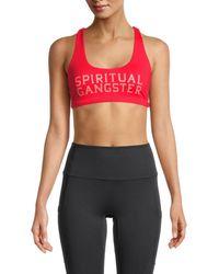 Spiritual Gangster Graphic Sports Bra - Red
