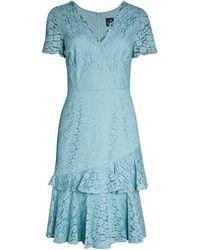 Adrianna Papell Felicity Lace Sheath Dress - Blue