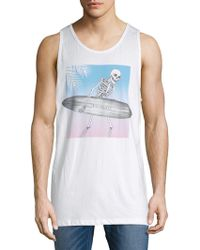 Riot Society - Skeleton Surf Cotton Tank Top - Lyst