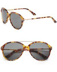 Rebecca Minkoff Astor 57mm Shield Sunglasses - Brown