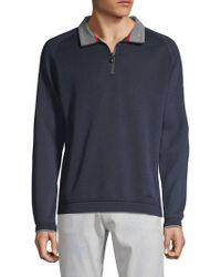 Bugatti - Knit Half Zip Pullover - Lyst