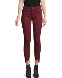 FRAME Step-hem Skinny Jeans - Red