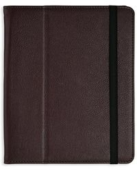 Graphic Image Leather Ipad Case - Brown