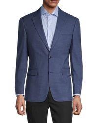 Tommy Hilfiger Standard-fit Check Sportcoat - Blue