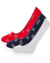 Juicy Couture - 3-pack Classic No Show Socks - Lyst