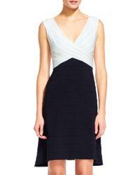 Adrianna Papell - Sleeveless Colorblock Sheath Dress - Lyst