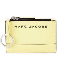 Marc Jacobs Women's Logo Multi-slot Pvc Card Case - Meringue - Metallic