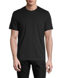 Michael Kors Men's Cotton Crewneck T-shirt - Chambray - Size M - Black